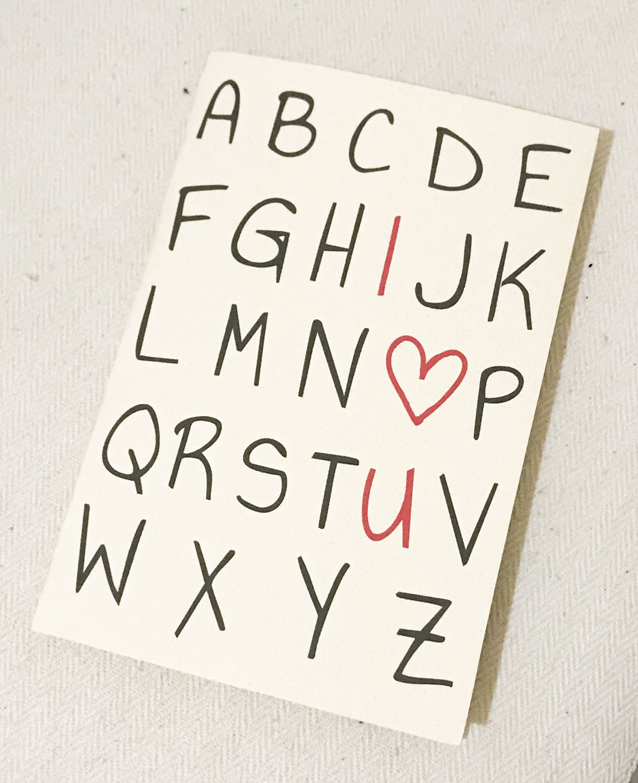 Tarjeta I love U