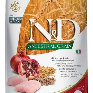 Farmina N&D Ancestral Grain Dry Dog Food, Puppy Medium and Maxi Breed, 2.5-kg, Chicken and Pomegranate vm pets mart