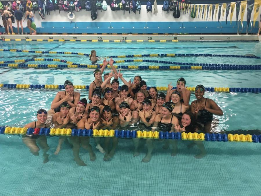 15c5d77c Middle schoolers dive into high school swimming – The Eagle's Call