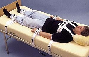 Betegrögzítés ágyban
