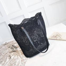 2018 Women Messenger Bag Single Strap Shoulder Bag Lady Lace Crossbody Bags Lady Handbag Black