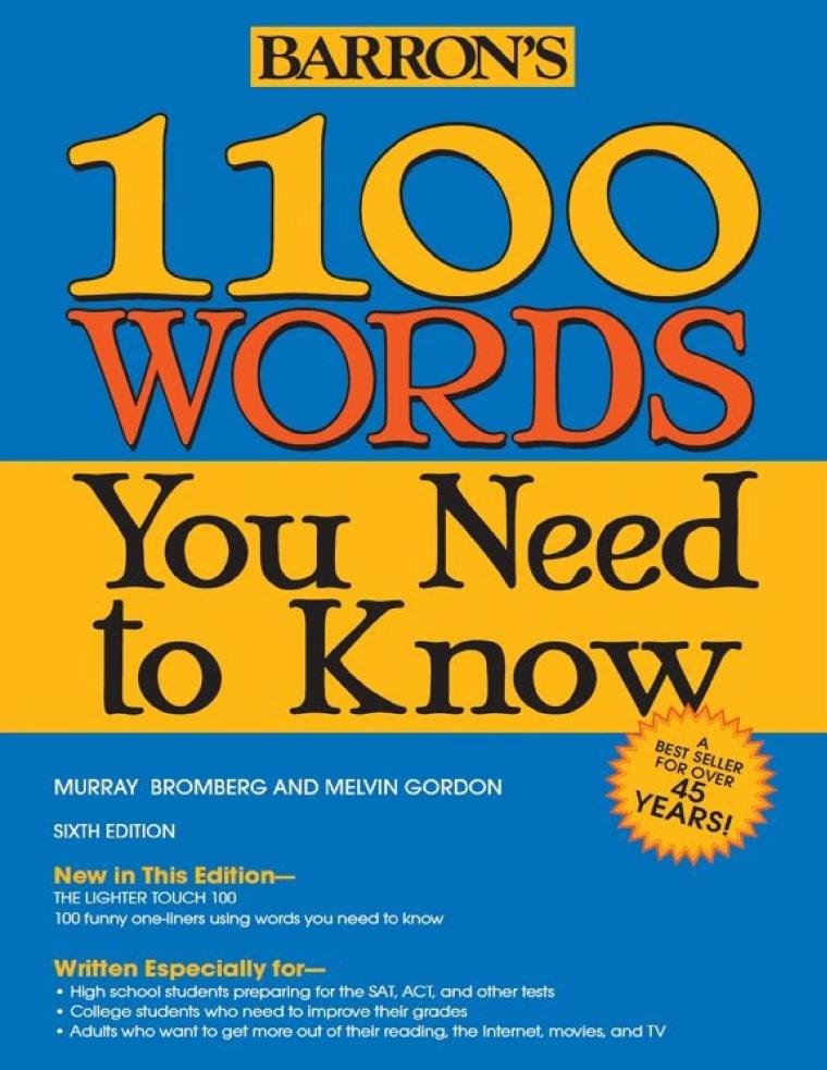 1100 Words You Need to Know, 6th Edition