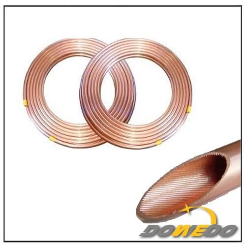 Đồng Lwc cuộn ống rãnh bên trong