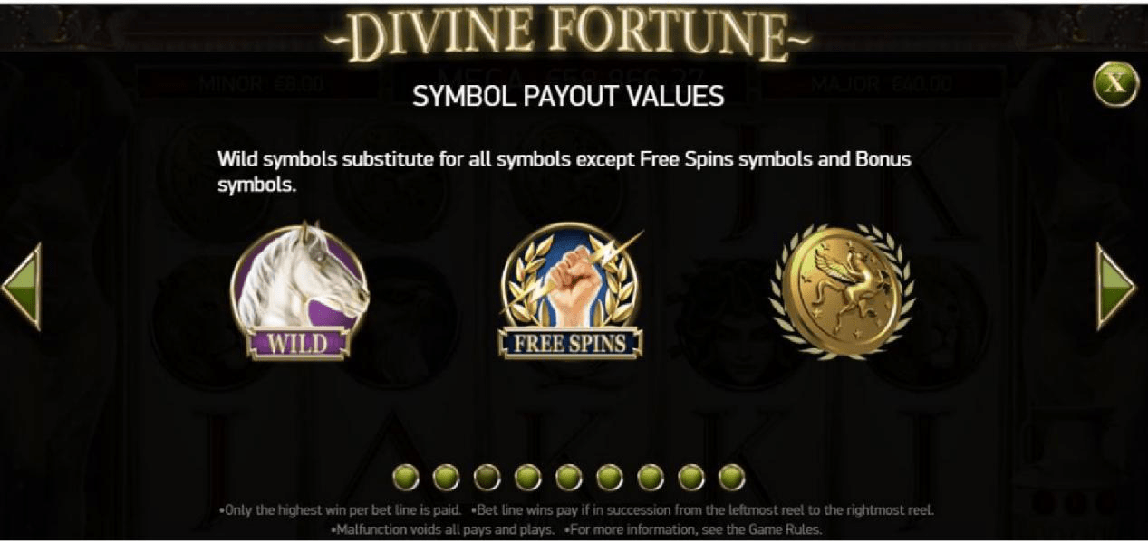 Divine Fortune Symbol Payout