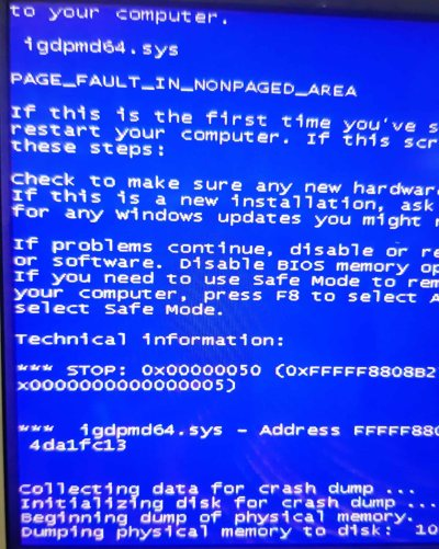 PAGE_FAULT_IN_NONPAGED_AREA (igdpmd64.sys)