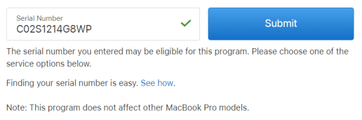 Macbook Pro 2015 duoc thay the pin mien phi