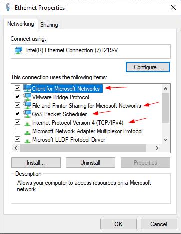 Windows 10 không hiển thị trong Network