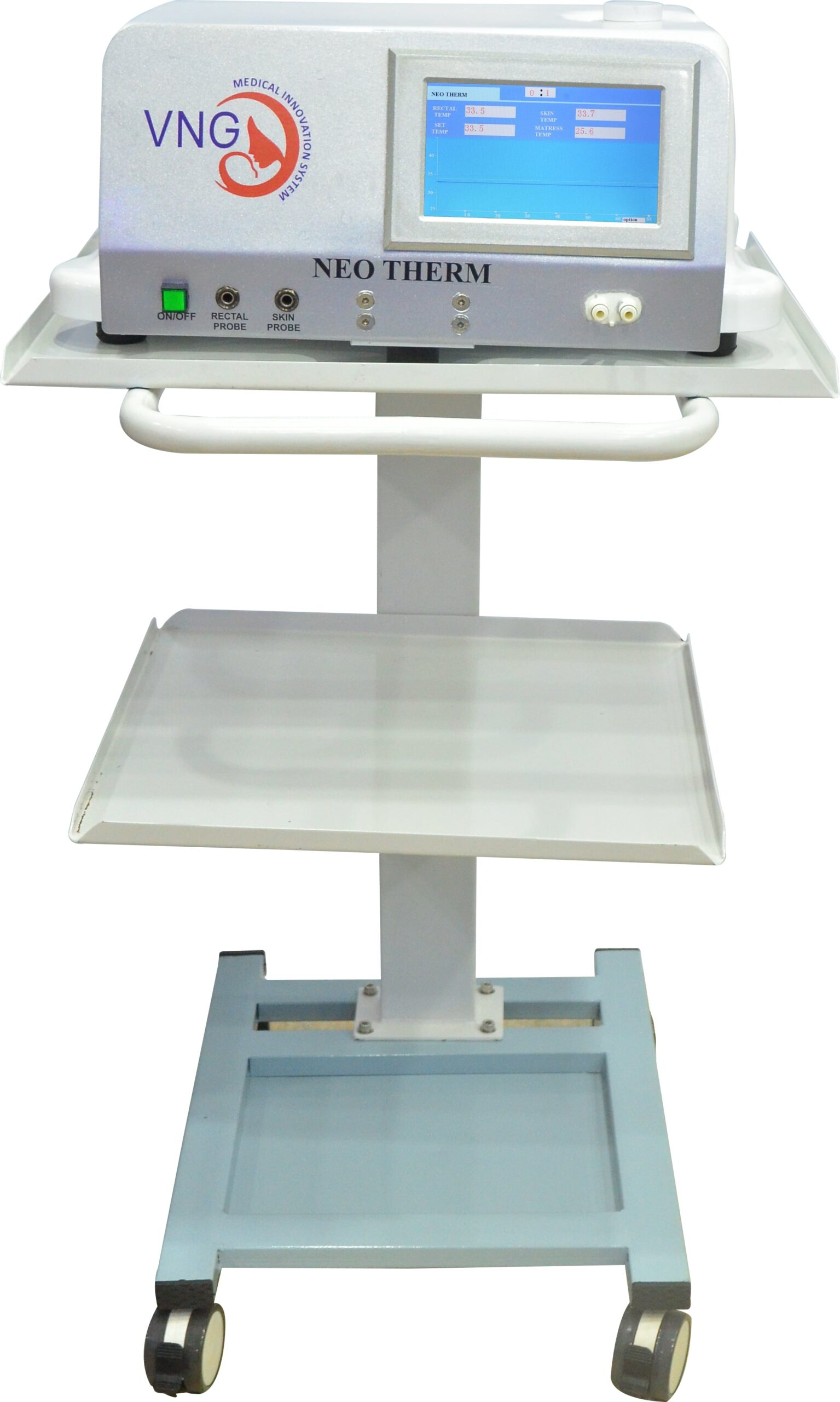 Neotherm is cooling system used to treat Newborn Babies born with Birth Asphyxia ,a state when Baby is deprived of enough oxygen.