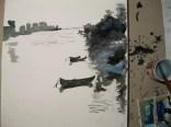 ... liegen einige Fischerboote ...