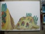 Das Dorf liegt auf einem Plateau …