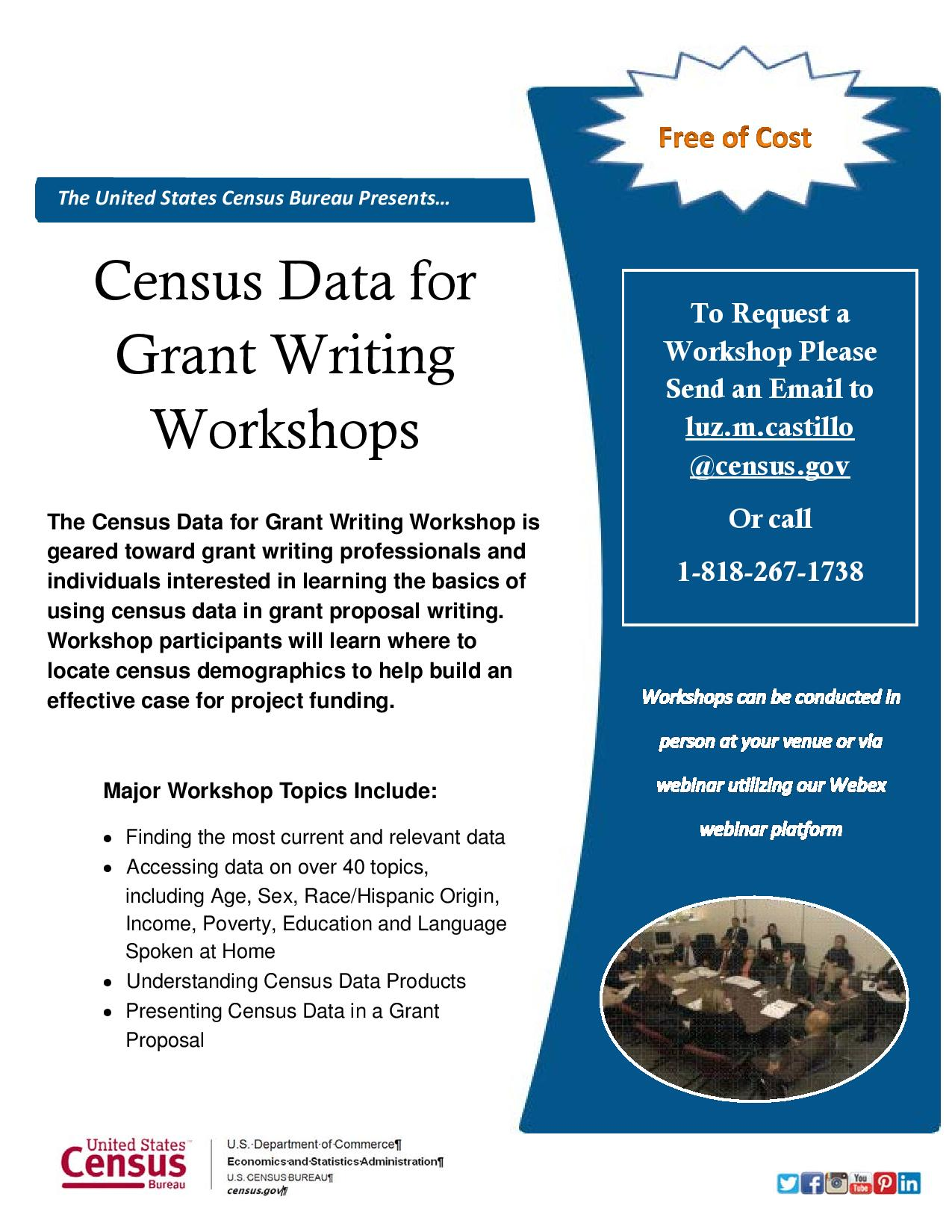 grant writing training Grant writing is a specialized profession with excellent career opportunities for many organizations, grant writing is a critical lifeline for their funding learn how to research and respond to grant opportunities.