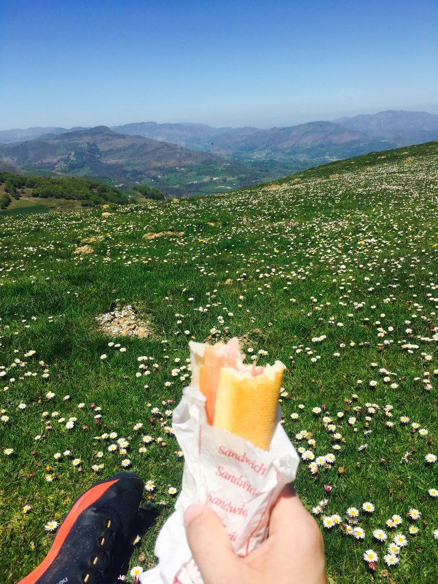 Having lunch at the French Pyrenees!