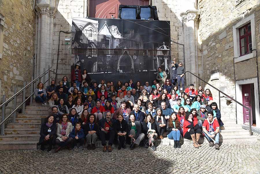 Participantes da Festa da Arqueologia de 2019 que decorreu nos dias 25, 26 e 27 de Abril no Museu Arqueológico do Carmo em Lisboa.