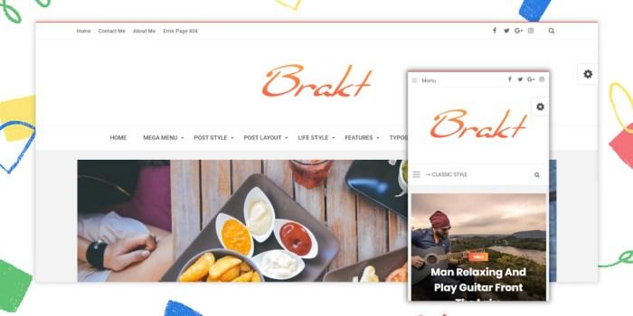 Brakt v6.0 Premium Blogger Template