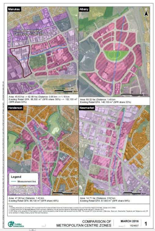 Manukau Metro comparison Source: