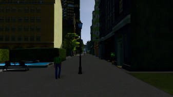 Path with urban development