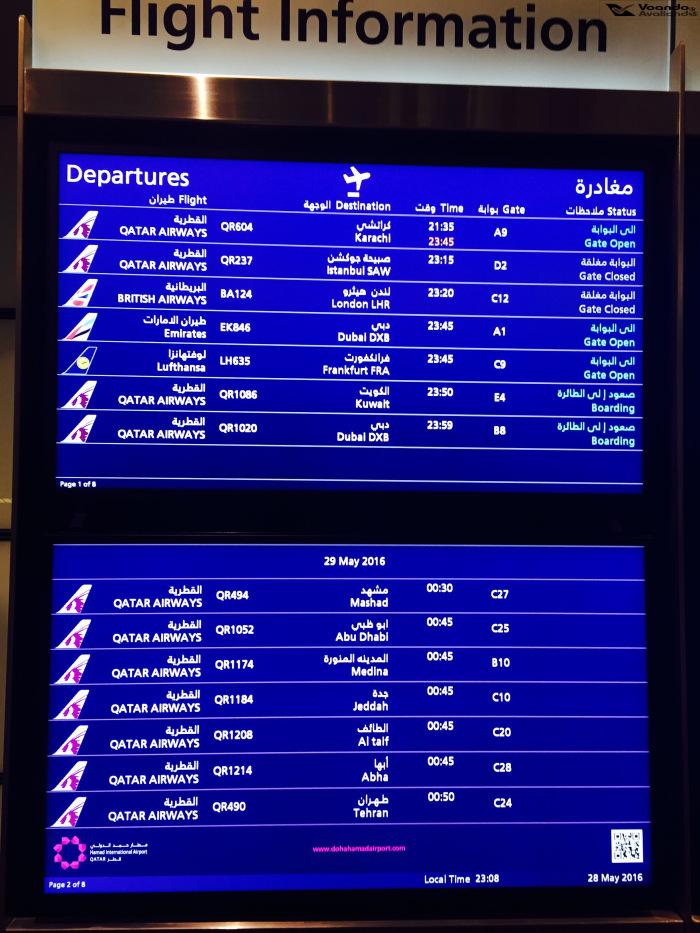 Aeroporto Doha - Painel