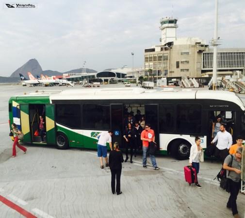 Ônibus com passageiros
