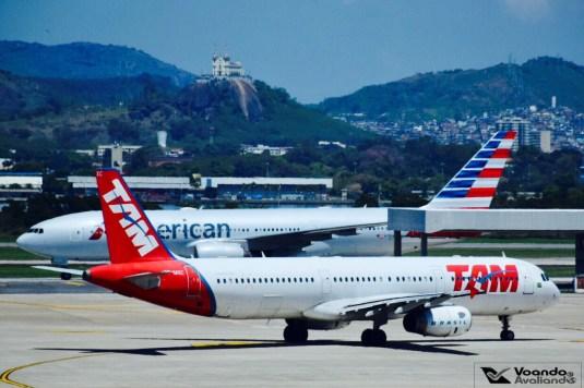 A321 LATAM e B777 American_GIG