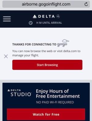 Wifi a bordo - Delta - B767 1