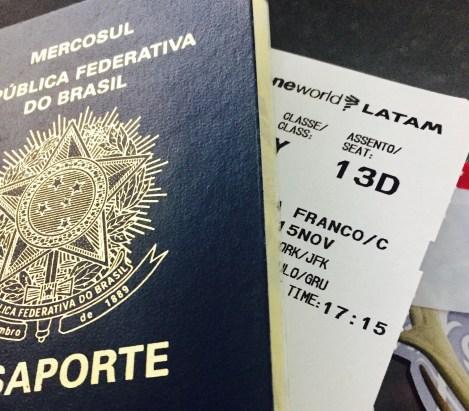 Passaporte + Cartão JFK/GIG