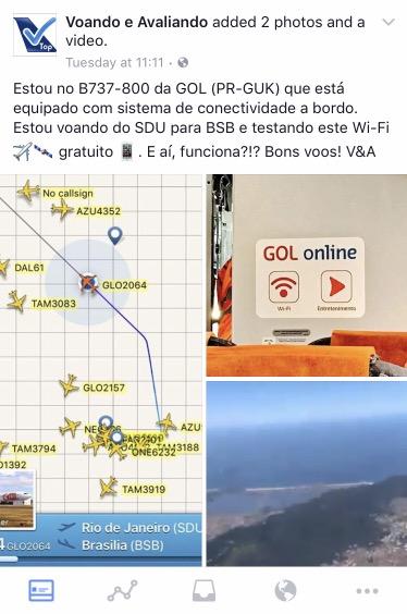 Registro - Facebook - Wifi GOL