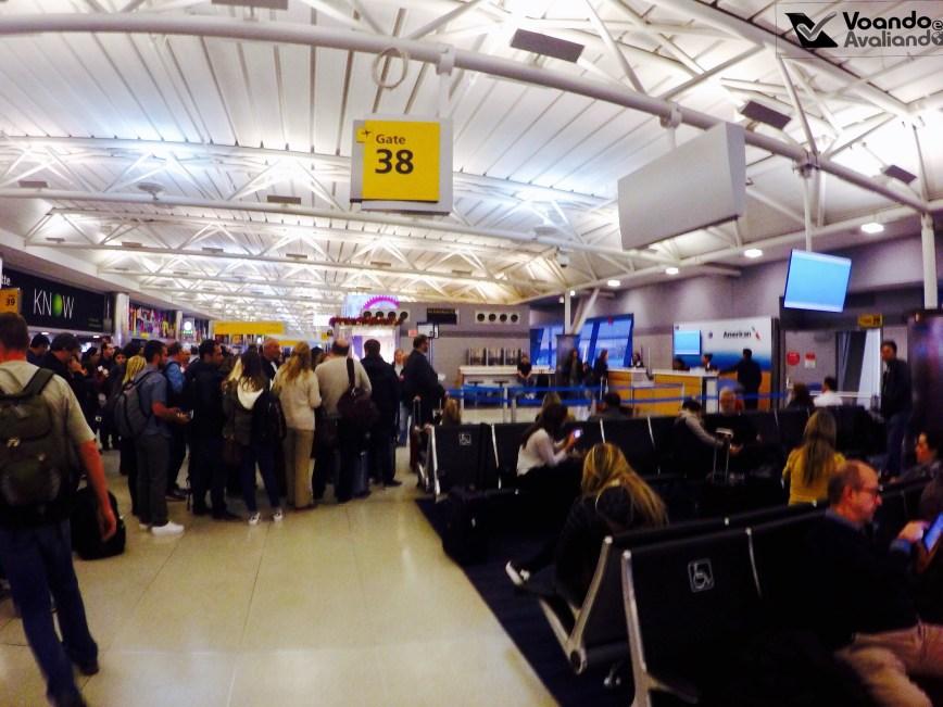 Portão 38 - Embarque JFK - GRU