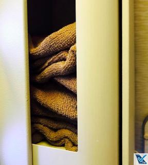 Toalhas - Banheiro B777 Emirates