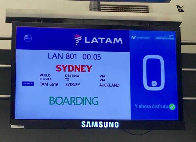 Monitor - Portão de Embarque - LATAM - SCL AKL