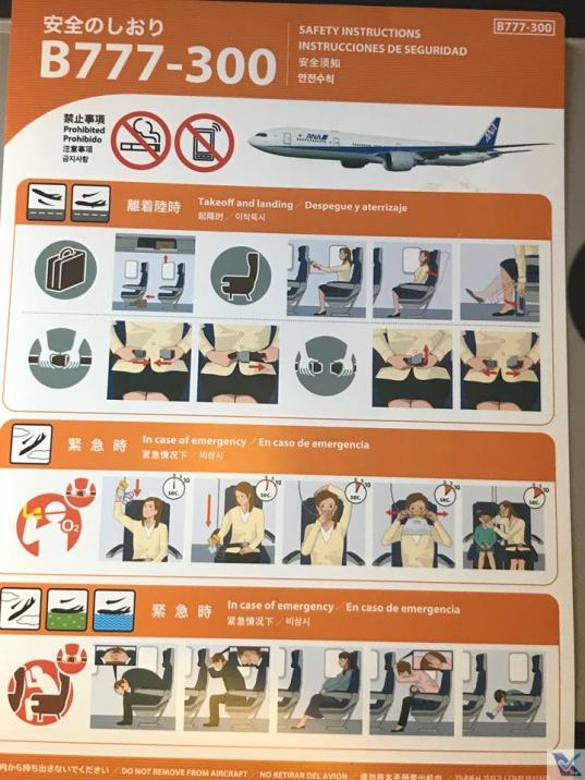 Cartão - Intruções Segurança - B777 - ANA