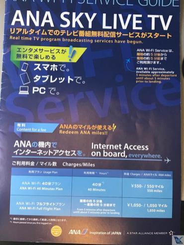 Cartão - Intruções TV e Internet - B777 - ANA