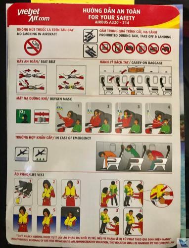 Instruções de Segurança - A320 - VietJet Air