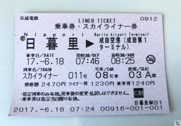 Metro Narita - Ticket