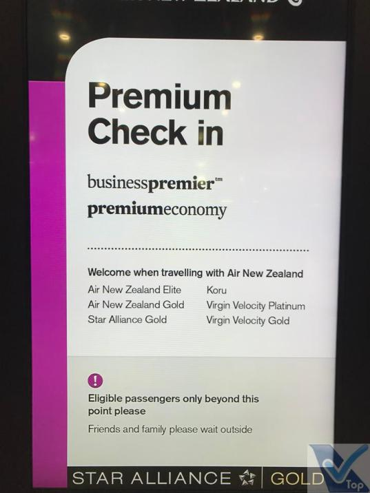 Placa Check-in Premium ANZ Aer. AKL