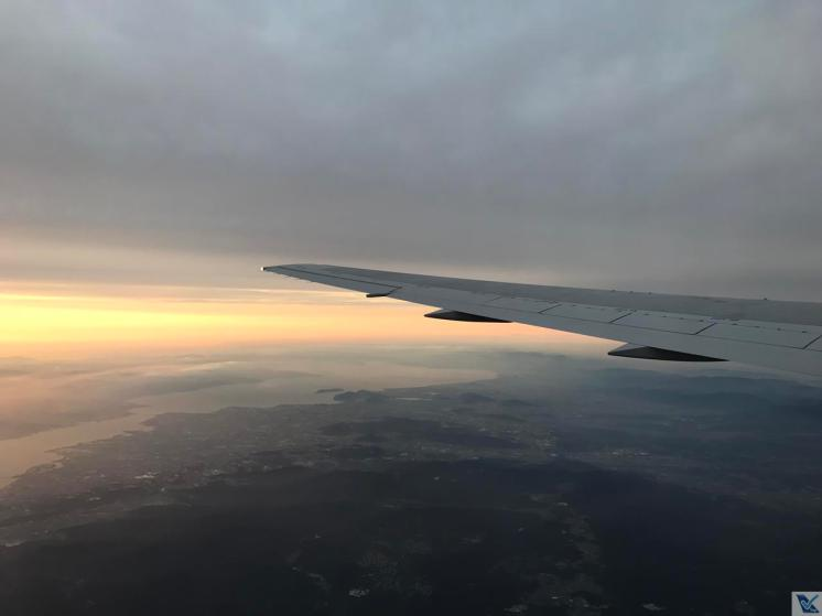Visão Janela - Decolagem Osaka - B767 - JAL