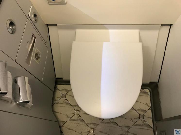 A330 - Banheiro - Qantas - Vaso