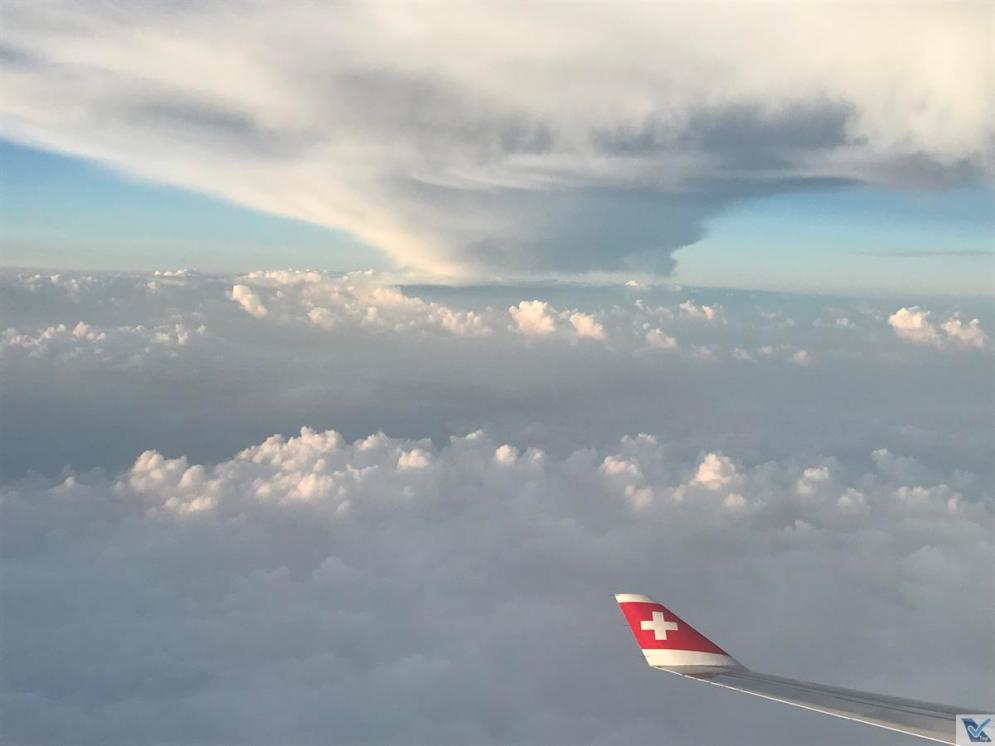 Asa A330 - Swiss - Nuvens (2)