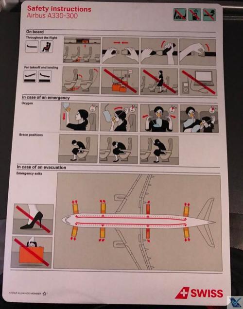 Cartão Instruções de Segurança - A330 - Swiss