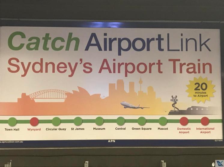 Cartaz - Trem Aeroporto Sydney