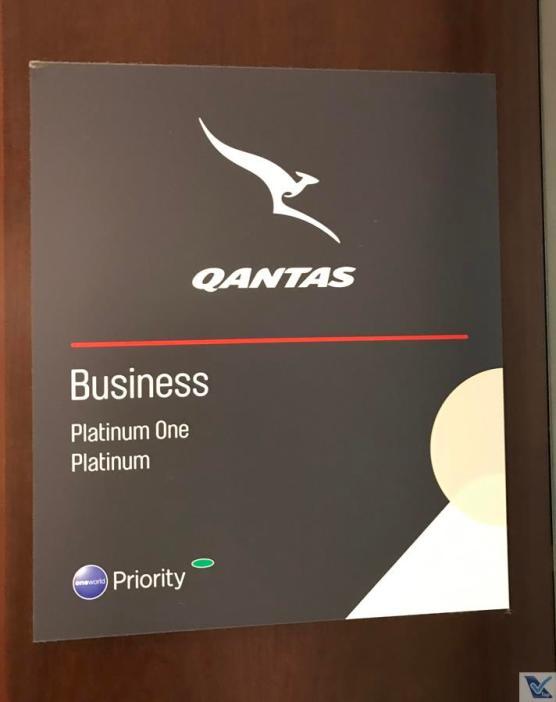 Sala VIP - Qantas - SYD - Placa