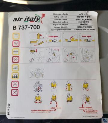 Cartão - Instruções Segurança - B737 Meridiana (2)