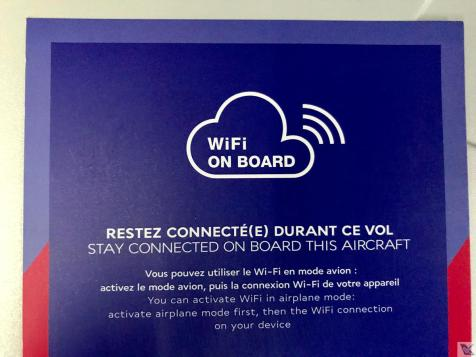 Wifi - Air France - Cartão