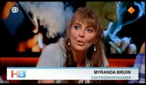 Coffeeshopondernemer en VOC bestuurslid Myranda Bruin: 'Reguleren die achterdeur'
