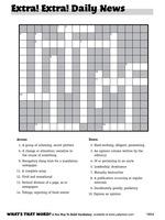 """giant crossword puzzle """"Extra! Extra!"""""""