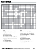 "crossword puzzle ""Word Up!"""