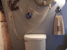 Cheap Beach Bathroom Decor