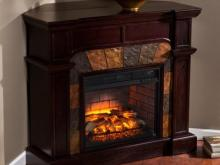 Corner Ventless Gas Fireplace