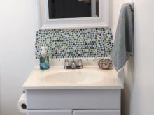 diy bathroom backsplash ideas
