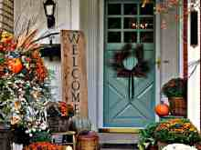 Fall Themed Front Door Modern Decor