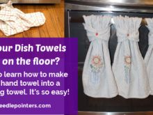 Hanging Kitchen Towels With Snaps